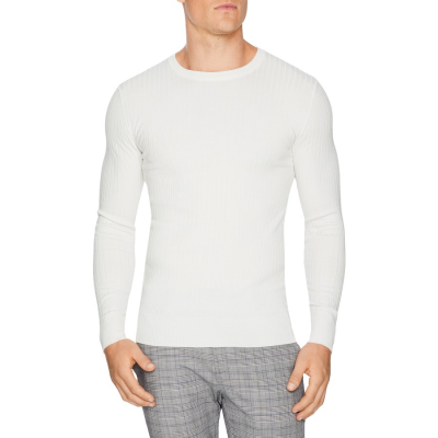 Fashion 4 Men - Tarocash Timberlake Rib Knit Winter White S