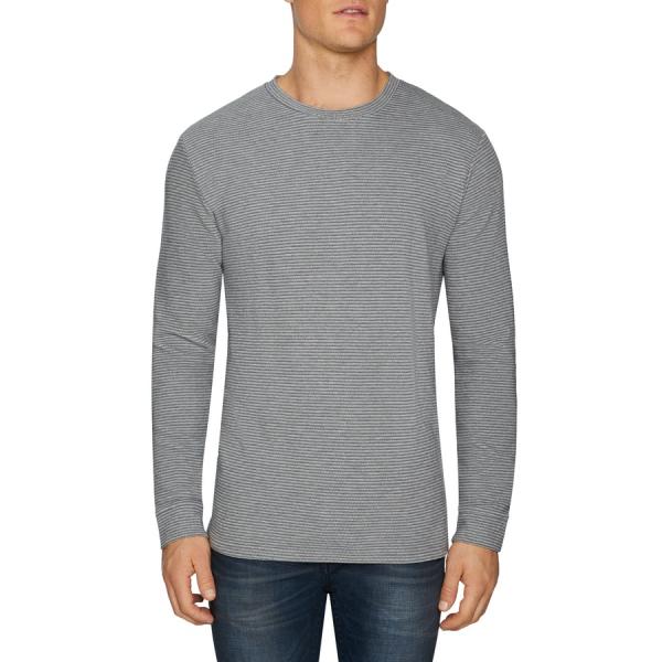 Fashion 4 Men - Tarocash Travis Textured Crew Tee Grey L