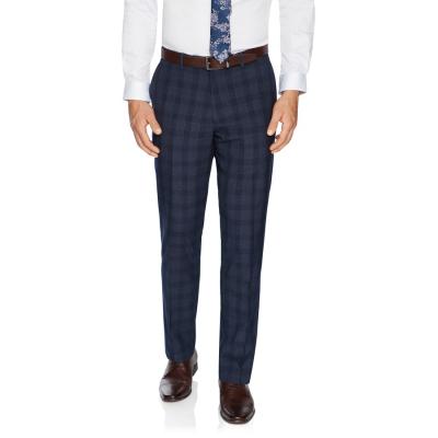 Fashion 4 Men - Tarocash Trenton Slim Check Pant Navy 30