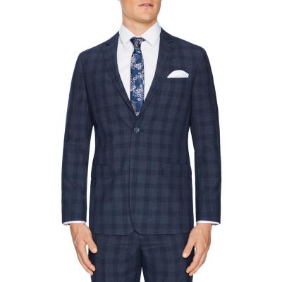 Fashion 4 Men - Tarocash Trenton Slim Check Suit Jacket Navy 44