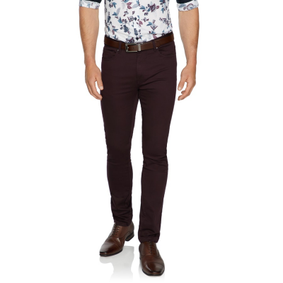 Fashion 4 Men - Tarocash Ultimate Slim Chino Burgundy 34