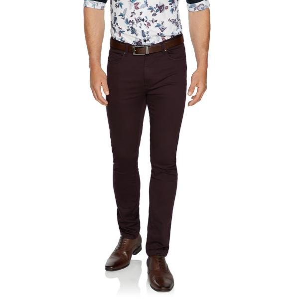 Fashion 4 Men - Tarocash Ultimate Slim Chino Burgundy 40
