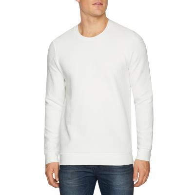 Fashion 4 Men - Tarocash Vince Textured Crew Tee Winter White M
