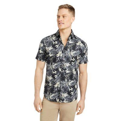Fashion 4 Men - Tarocash Amazon Stretch Print Shirt Black Xl