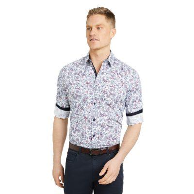 Fashion 4 Men - Tarocash Appleton Paisley Print Shirt White S