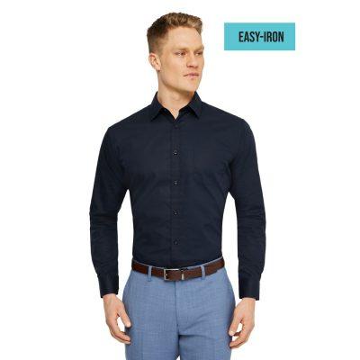 Fashion 4 Men - Tarocash Arthur Easy Iron Dress Shirt Navy Xxxl