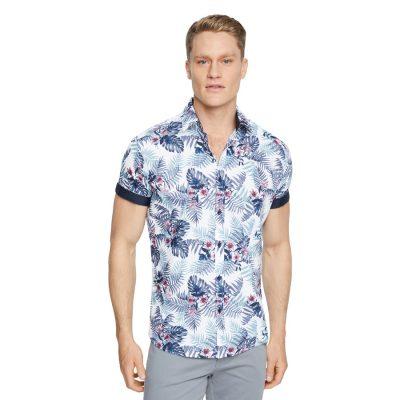 Fashion 4 Men - Tarocash Bells Floral Print Shirt Sage Xxxl