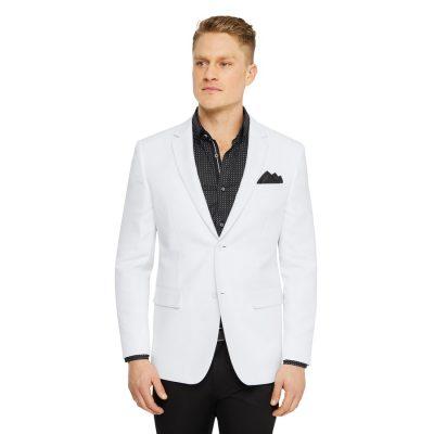 Fashion 4 Men - Tarocash Benton Textured Blazer White Xl