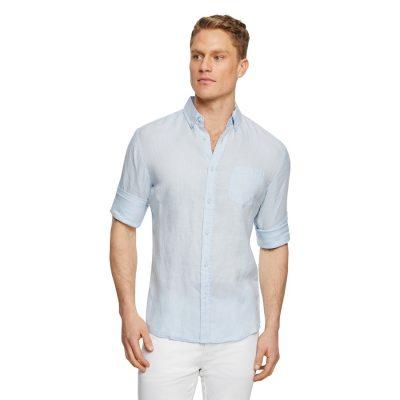 Fashion 4 Men - Tarocash Billy Pure Linen Shirt Ice Blue 5 Xl