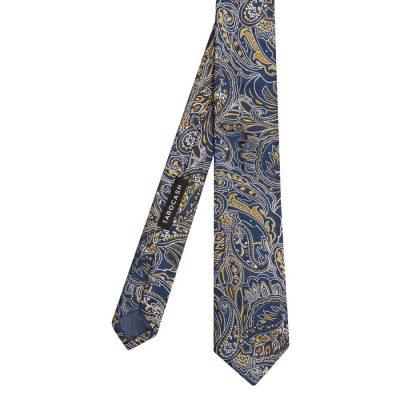 Fashion 4 Men - Tarocash Byrne Silk Paisley Tie Navy 1