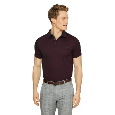 Fashion 4 Men - Tarocash Capri Luxe Touch Modal Polo Burgundy 4 Xl