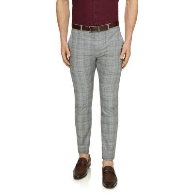 Fashion 4 Men - Tarocash Cooper Slim Check Pant Charcoal 34