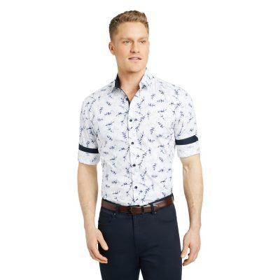 Fashion 4 Men - Tarocash Elleston Slim Floral Print Shirt White L
