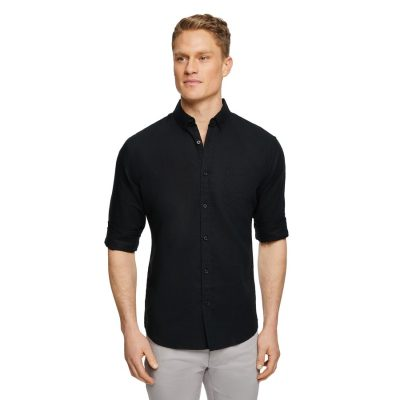 Fashion 4 Men - Tarocash Elliot Linen Shirt Black S