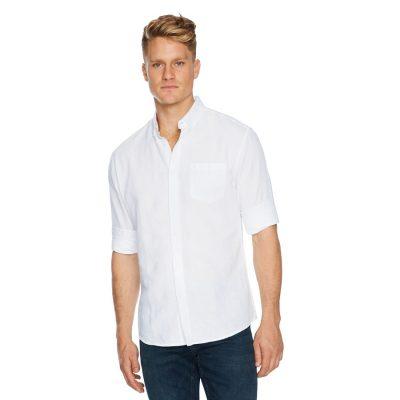 Fashion 4 Men - Tarocash Elliot Linen Shirt White Xxl