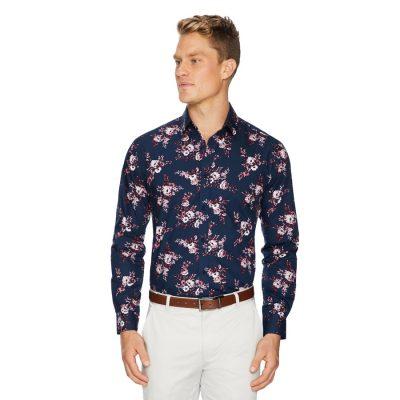 Fashion 4 Men - Tarocash Kipling Floral Shirt Navy Xxxl