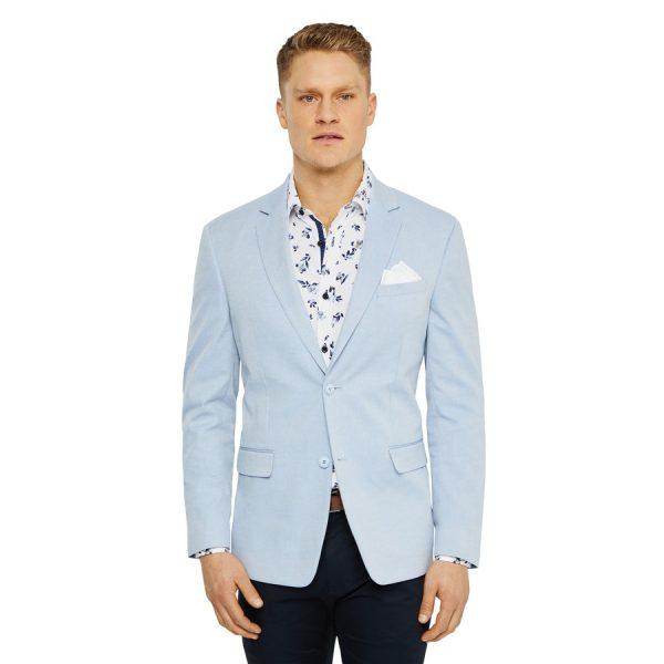 Fashion 4 Men - Tarocash Lagoon Cotton Stretch Blazer Sky S