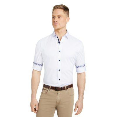 Fashion 4 Men - Tarocash Nova Slim Stretch Shirt White Xs