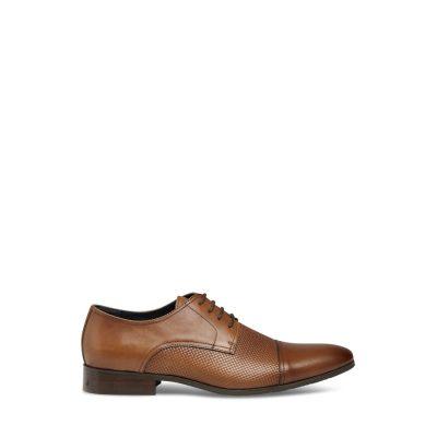 Fashion 4 Men - Tarocash Pepe Textured Dress Shoe Tan 9