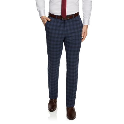Fashion 4 Men - Tarocash Risdon Slim Check Pant Blue 40