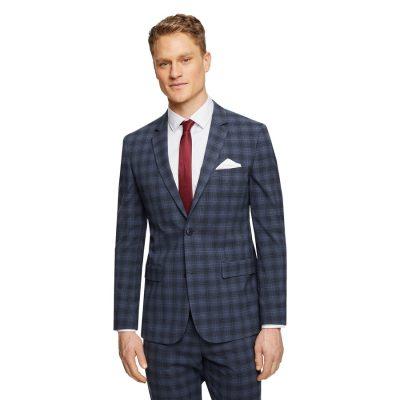 Fashion 4 Men - Tarocash Risdon Slim Check Suit Jacket Blue 32