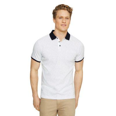 Fashion 4 Men - Tarocash Sorrento Print Polo White Xxl