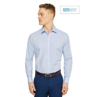 Fashion 4 Men - Tarocash Stripe Max Dress Shirt Blue Xxl