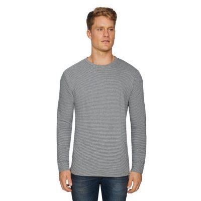 Fashion 4 Men - Tarocash Travis Textured Crew Tee Grey S