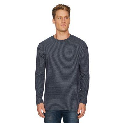 Fashion 4 Men - Tarocash Travis Textured Crew Tee Navy Xl