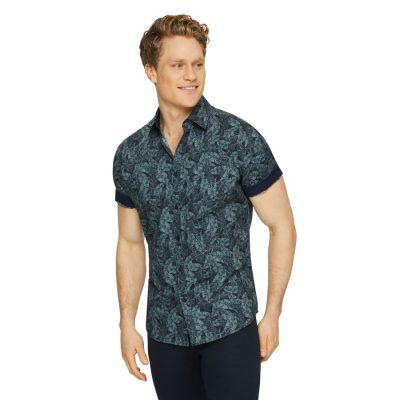 Fashion 4 Men - Tarocash Tropic Print Shirt Sage S