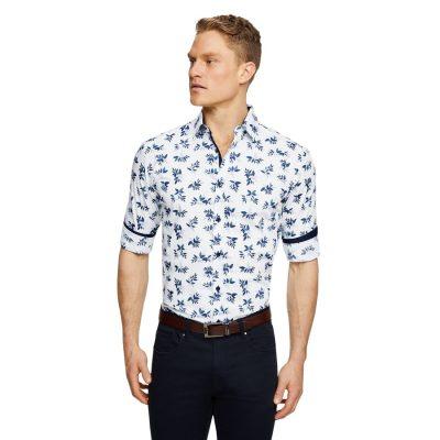Fashion 4 Men - Tarocash Wingate Floral Print Shirt White 4 Xl