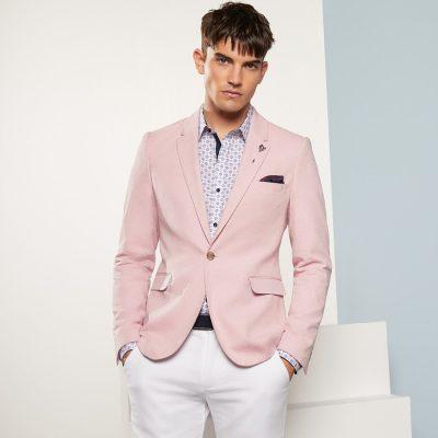 Fashion 4 Men - yd. Alfie Textured Blazer Musk Xxxl