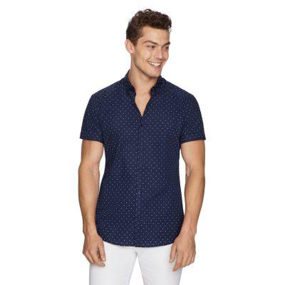 Fashion 4 Men - yd. Archer Print Shirt Navy L