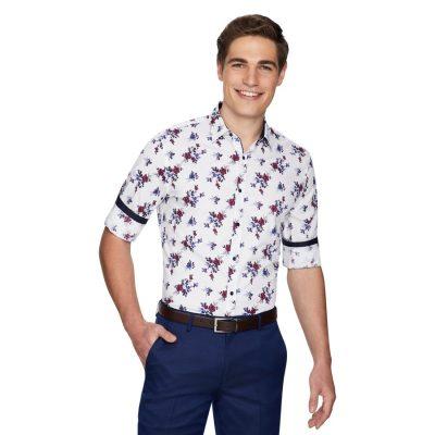 Fashion 4 Men - yd. Brend Floral Slim Shirt Multi Xxl