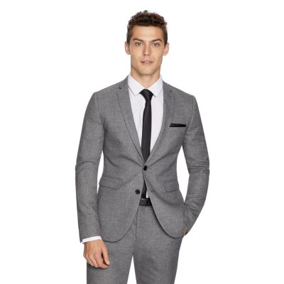 Fashion 4 Men - yd. Cadillac Skinny Textured Suit Jacke Pewter 46