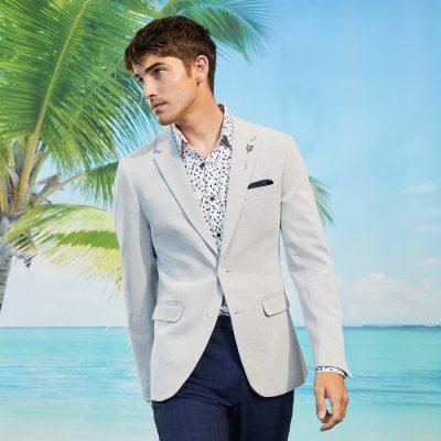 Fashion 4 Men - yd. Chase Stretch Blazer Pumice S
