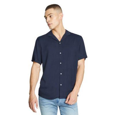 Fashion 4 Men - yd. Ezekiel Viscose Shirt Dark Blue M