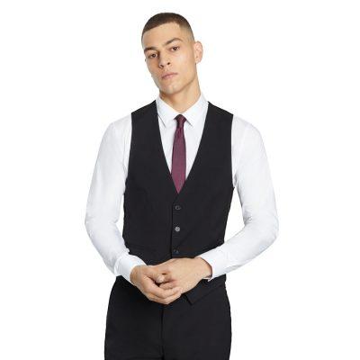 Fashion 4 Men - yd. Goodfella Waistcoat Black L