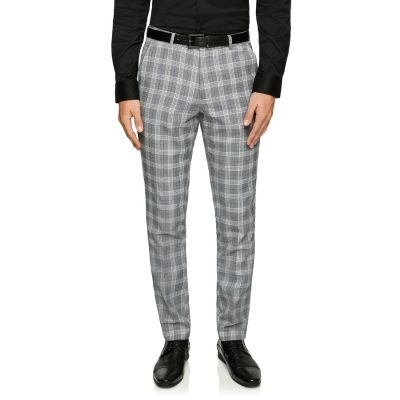 Fashion 4 Men - yd. Hollywood Skinny Check Dress Pant Quicksilver 30