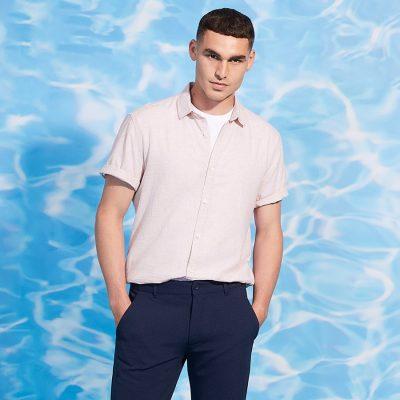 Fashion 4 Men - yd. John Linen Shirt Pink Xxl
