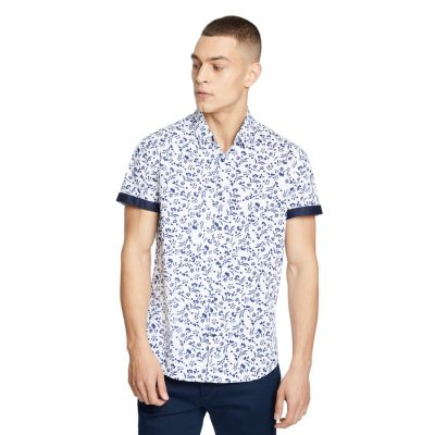 Fashion 4 Men - yd. Joze Print Shirt White Xxl