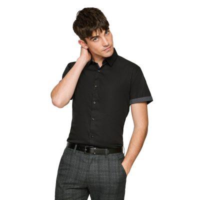 Fashion 4 Men - yd. Karl Slim Stretch Shirt Black L