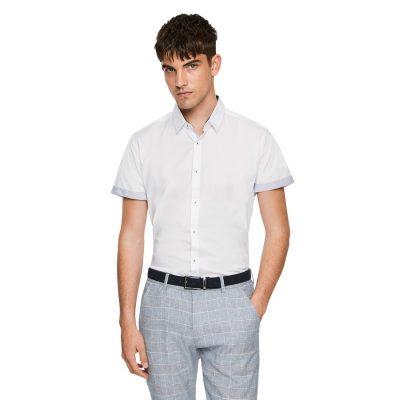Fashion 4 Men - yd. Karl Slim Stretch Shirt White Xxxl