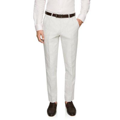 Fashion 4 Men - yd. Luis Linen Slim Dress Pant Natural 42