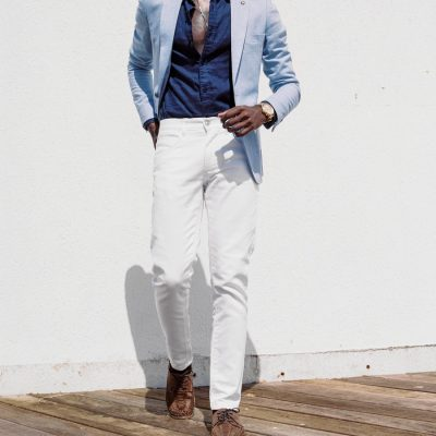 Fashion 4 Men - yd. Nicol Chino White 33