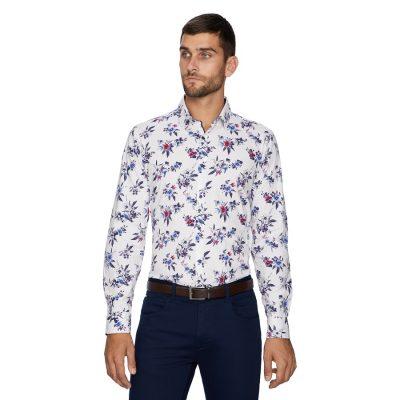 Fashion 4 Men - yd. Poco Printed Slim Shirt Multi S