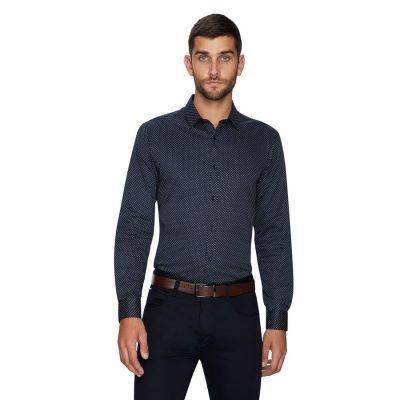 Fashion 4 Men - yd. Reading Geo Shirt Dark Blue L