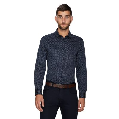 Fashion 4 Men - yd. Reading Geo Shirt Dark Blue S