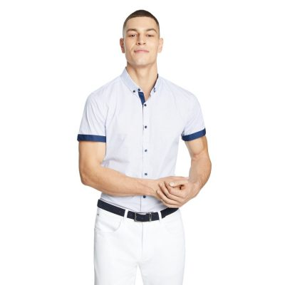 Fashion 4 Men - yd. Seb Slim Shirt Blue Xxl