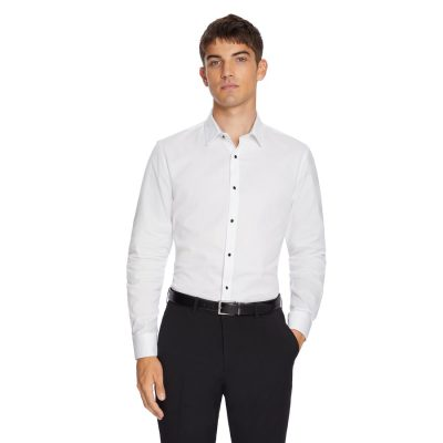 Fashion 4 Men - yd. Seville Slim Dress Shirt White M